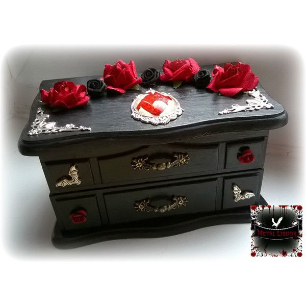 Gothic lovers Jewellery box 68 liked on Polyvore featuring