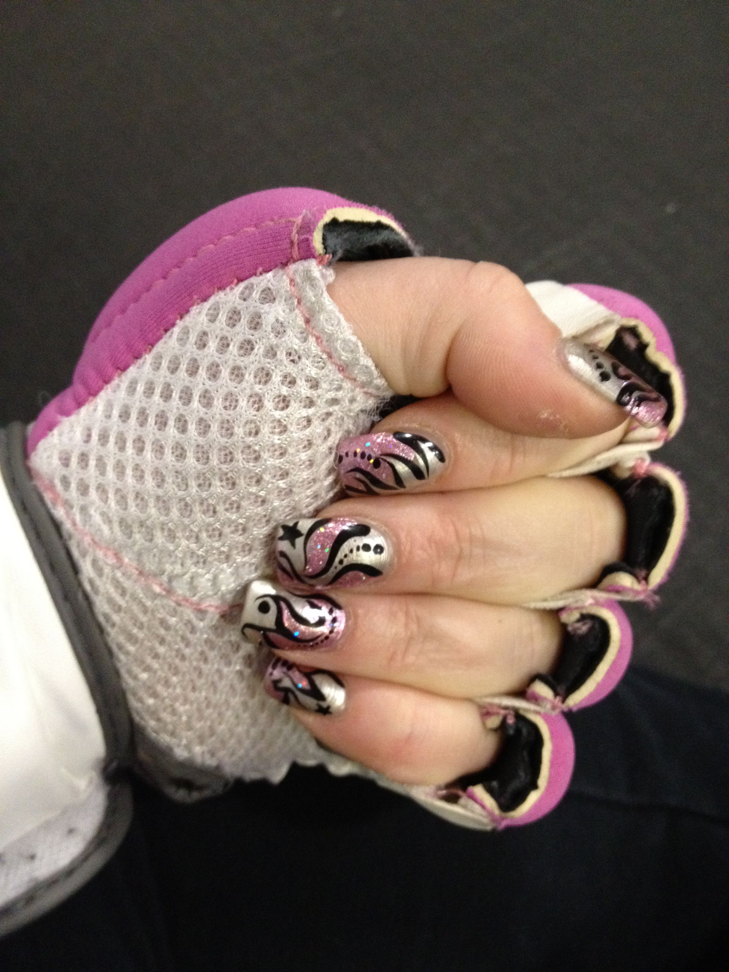 I Match My Boxing Gloves Womens Flip Flop Nails Boxing Gloves