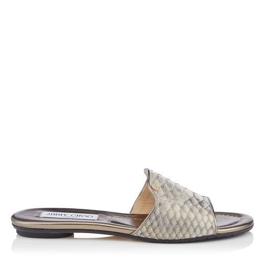 clearance view cheap sale authentic Jimmy Choo Python Slide Sandals very cheap price clearance store for sale top quality for sale nmrFa