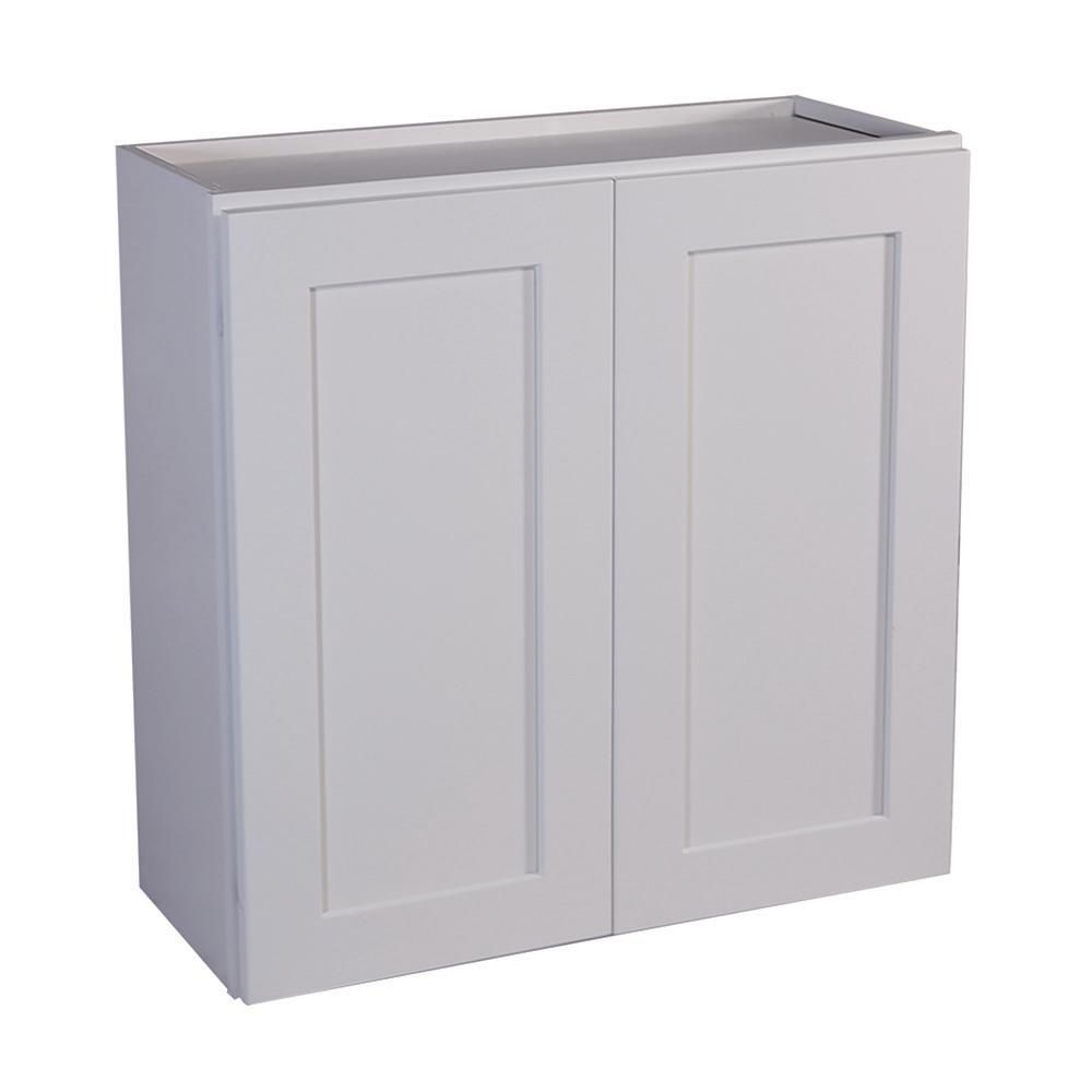 Design House Brookings Plywood Ready To Assemble Shaker 24x36x12 In 2 Door Wall Kitchen Cabinet In Wh In 2020 Kitchen Wall Cabinets Shaker Style Kitchens Wall Cabinet
