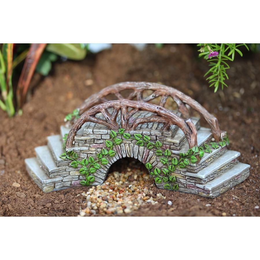 Enchanted Bridge With Stairway Miniature fairy gardens