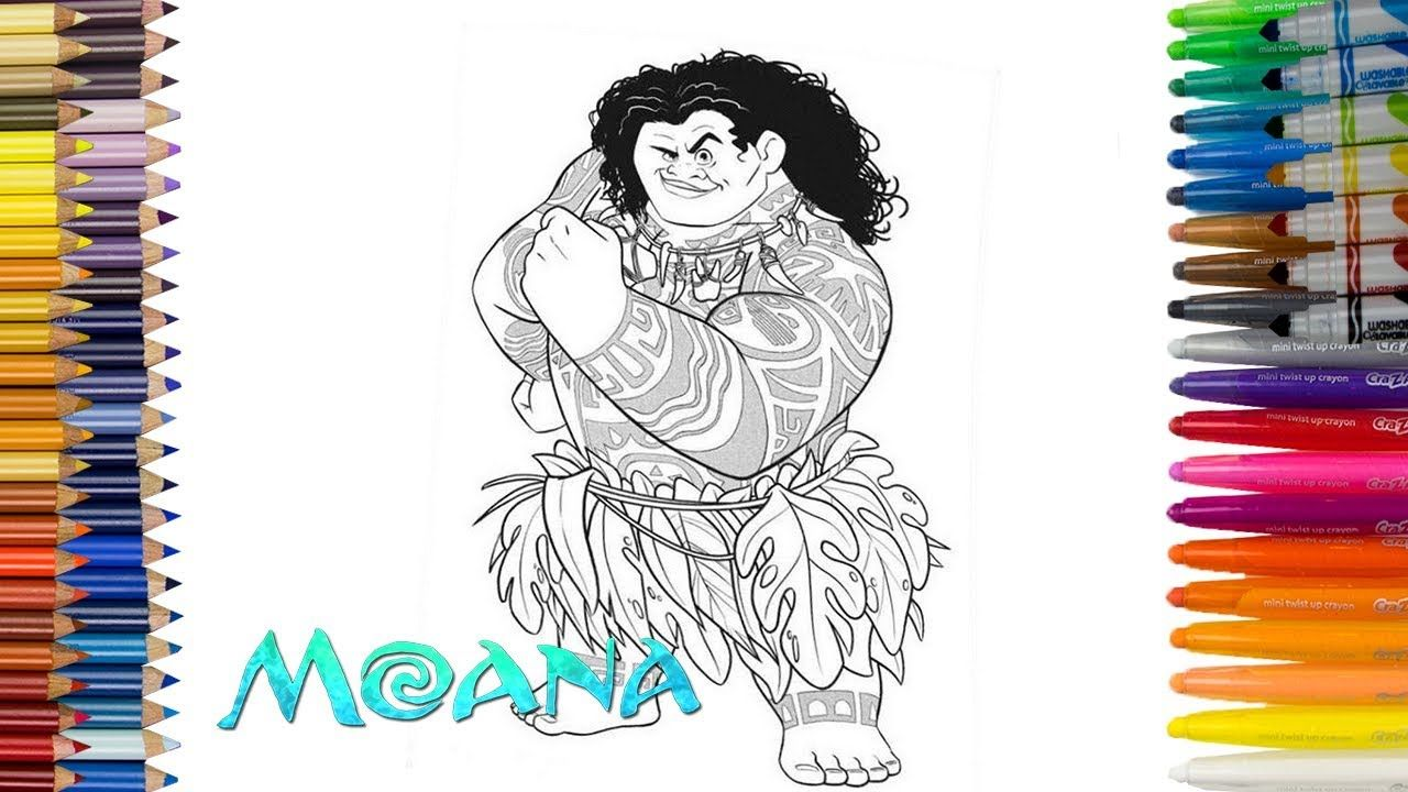 Pin By Sara Toy On Coloring Book Coloring Books Moana Coloring Learn Art