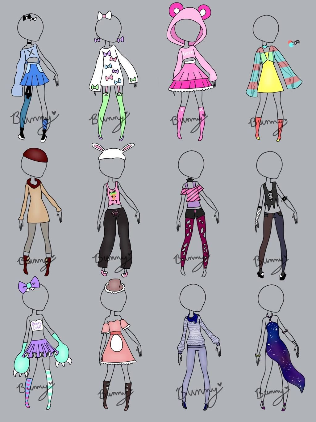 Random Clothing Open By Homicidal Bunny Drawing Anime Clothes Art Clothes Fashion Design Drawings