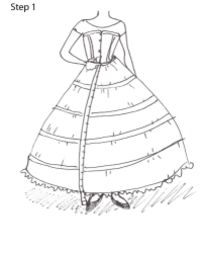 how to make a 1860s petticoat step 1 measure from the waist to the Petticoat Pattern how to make a 1860s petticoat step 1 measure from the waist to the floor