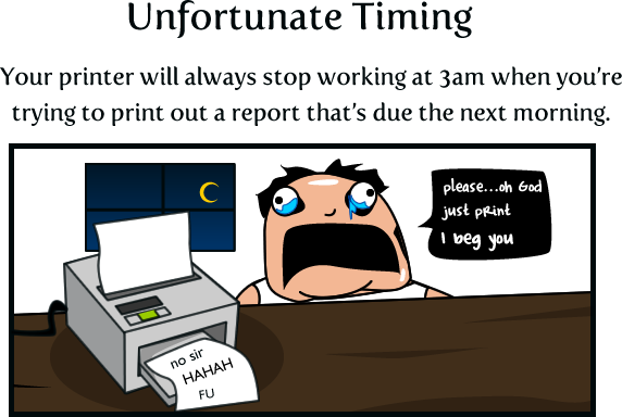 Why I Believe Printers Were Sent From Hell To Make Us Miserable - The Oatmeal