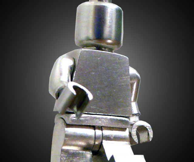 Poseable Sterling Silver LEGO Minifig | Lego, Sterling silver and ...