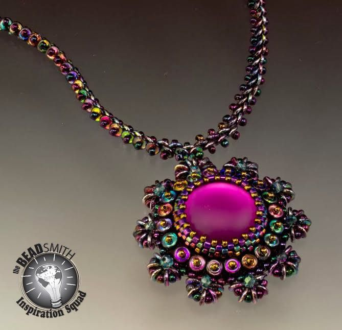 O-Bead inspiration från the Beadsmith -- Design by Betty Stephan