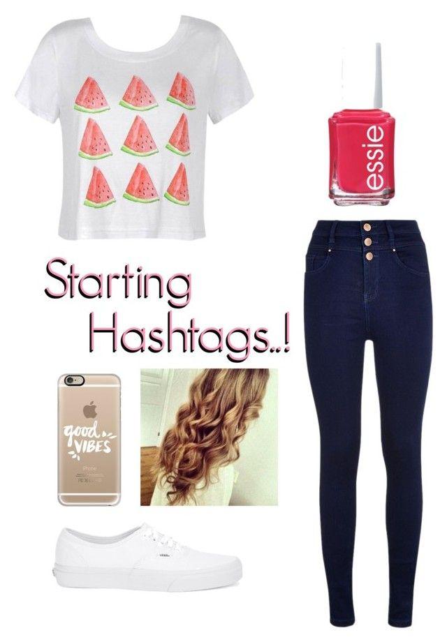 """Staring Hashtags!!! Read Description"" by karina-c-love ❤ liked on Polyvore featuring Ally Fashion, Essie, Vans, Casetify, Rememberthiskarina, karinasrandomthings, iconsforkarina, karinasicons and karinasfashionsets"