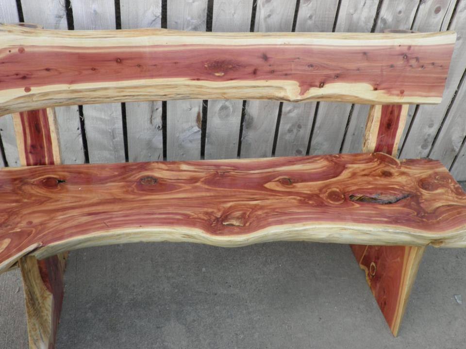 Exceptional Rustic Cedar Bench
