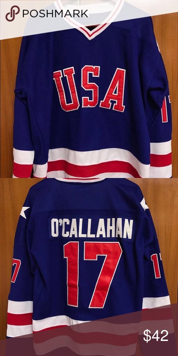 1980 Olympic Hockey Jersey Jack O Callahan 17 Featured Is A Jack O Callahan 1980 Team Usa Miracle On Ice Oly Olympic Hockey Usa Hockey Jersey Custom Jerseys