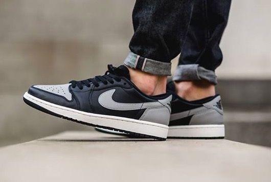 Nike Air Jordan 1 Low  Black Grey  97a534dcfe