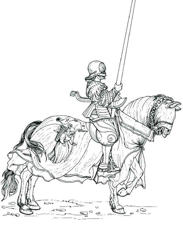 ridders kleurplaat