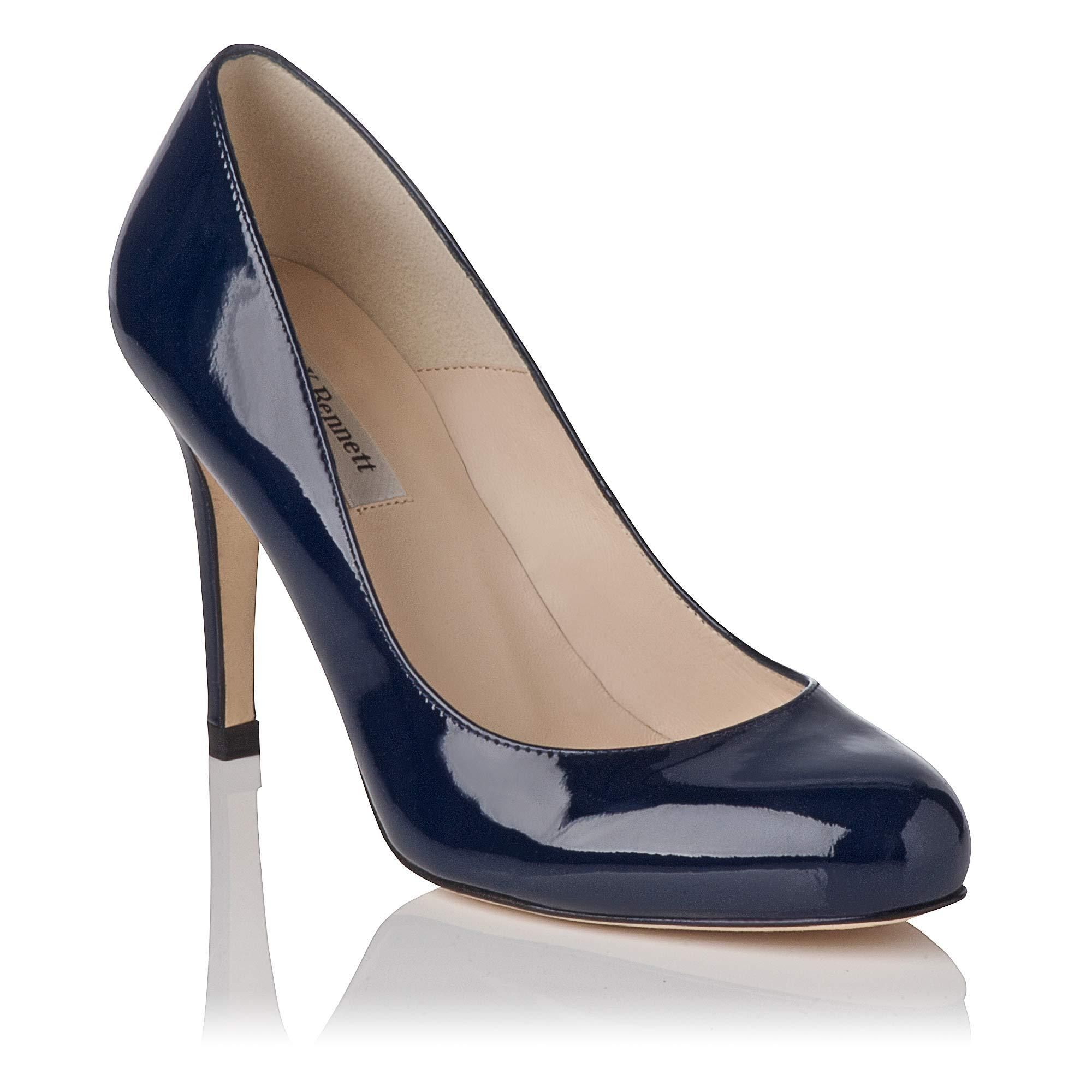 Stila Navy Patent Leather Heel | Shoes
