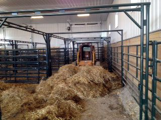 Hay storage and easy access to barn with tractor