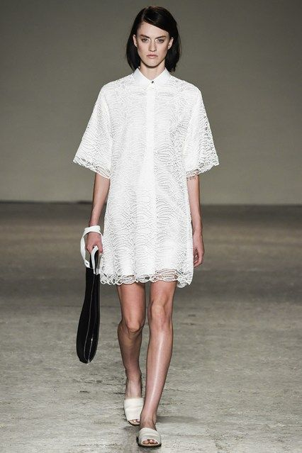 Would not do the bag with this but love the white ~ minimal + classic by Gabriele Colangelo, Spring 2015