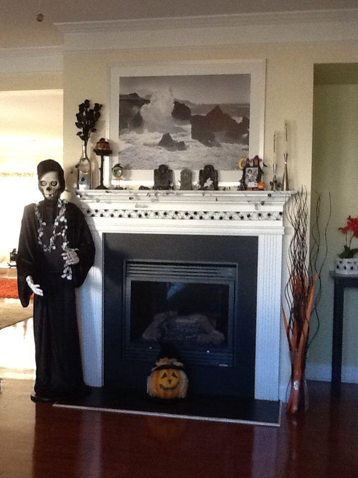 My spooky fireplace!