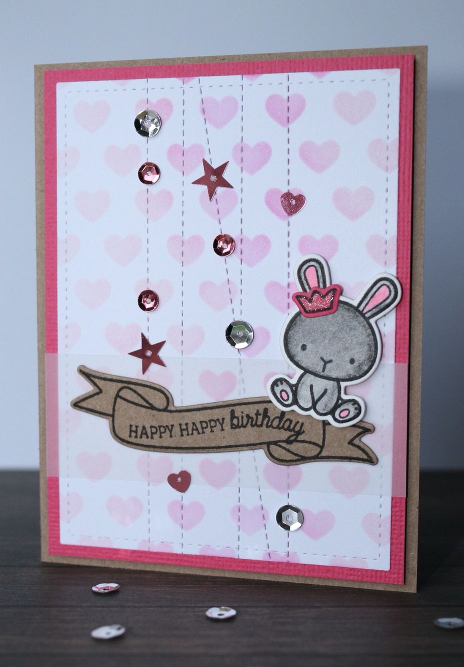 Birthday card created with Mama Elephant Charmed and Carnoval Cupcakes