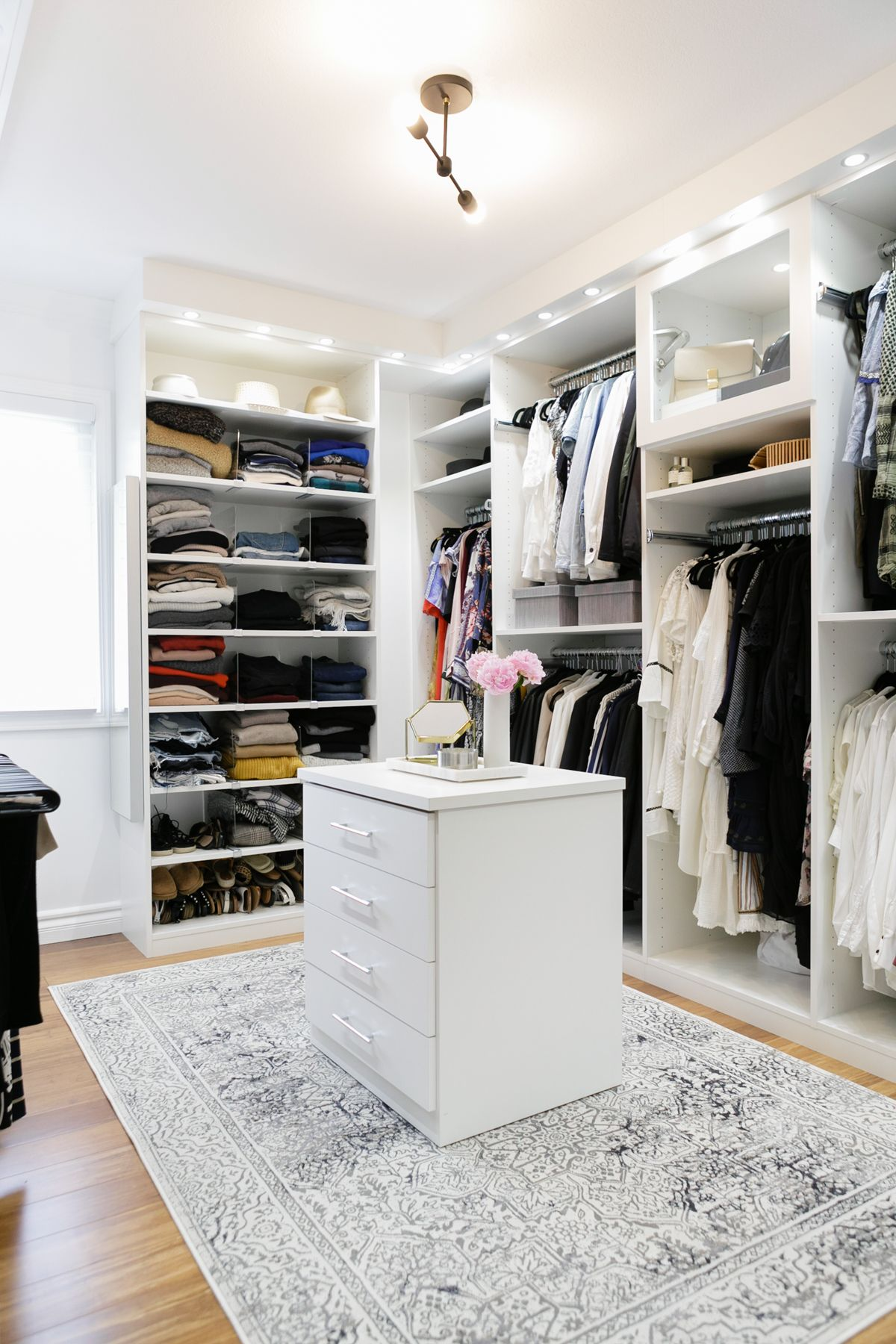 Crisp Clean Modern White Walk In Closet Dream Design By Caclosets Organize Black And Eatsleepwear Interiors Home