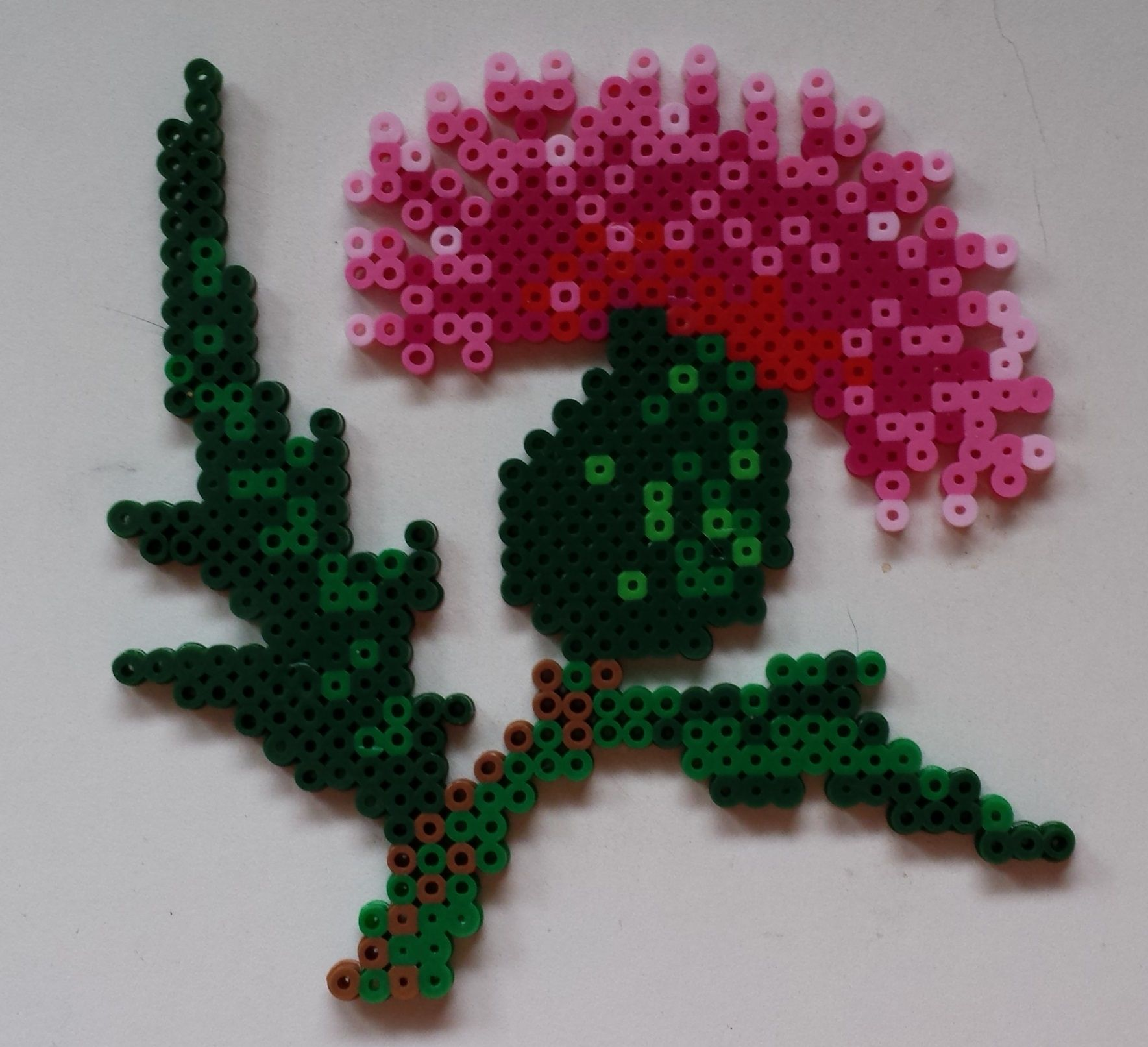 thistle flower perler by joanne schiavoni pattern