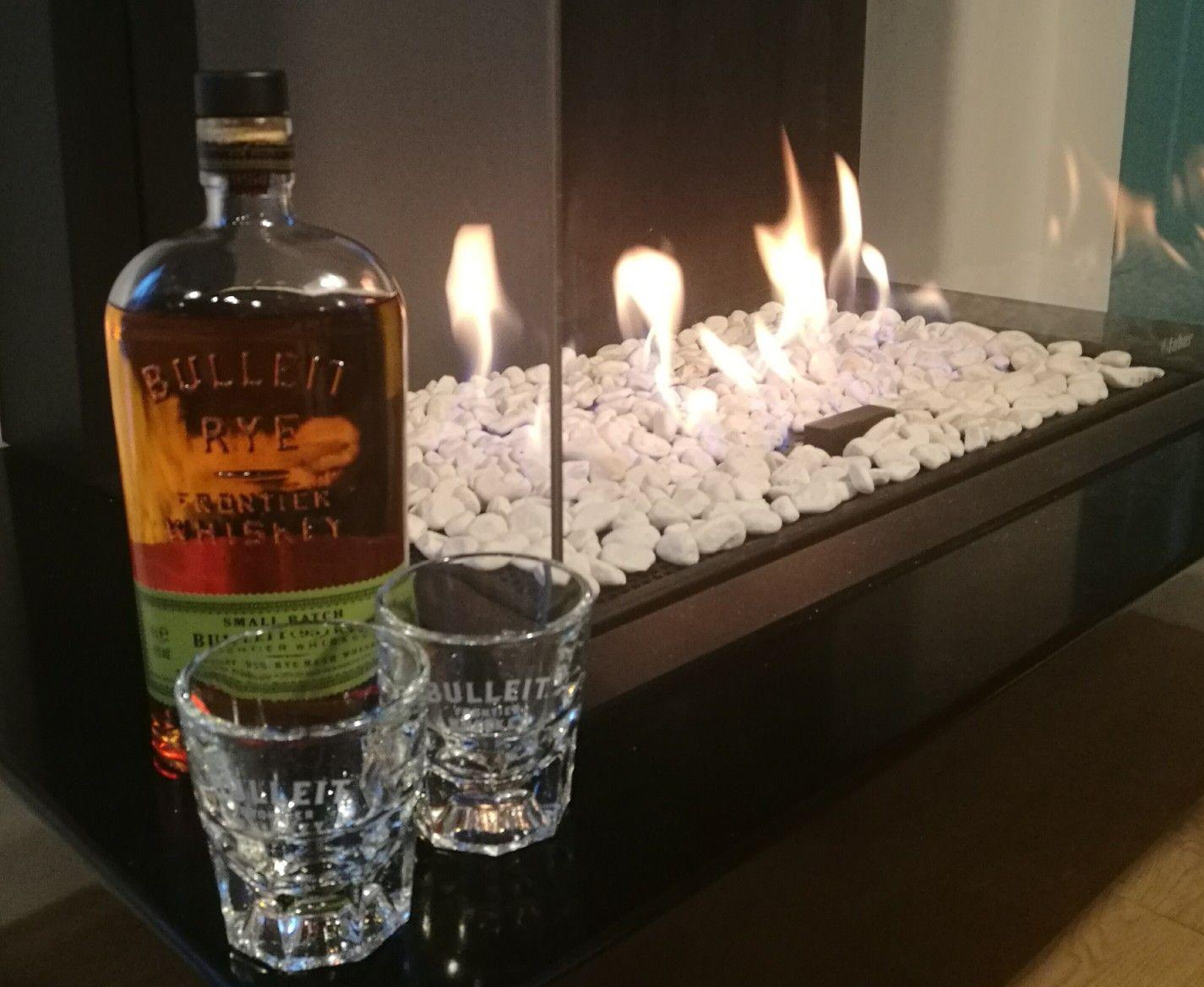 Bourbon am Kamin