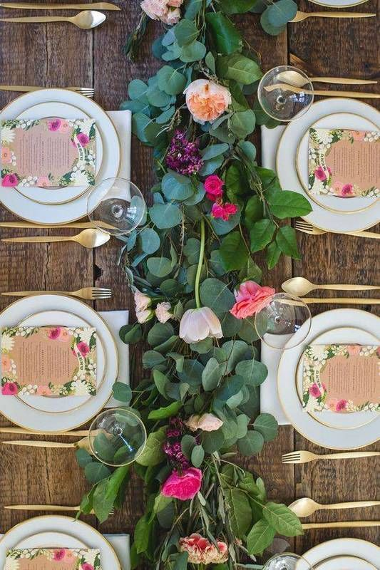 Garland Ideas On Tables Instead Of Centerpiece | Domino