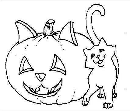 Halloween, fotos de dibujos para imprimir a los niños - Un gato y ...