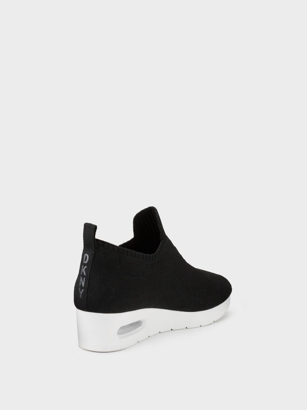 547834b31fa Dkny Angie Slip On Low Wedge Sneaker - Black 7.5