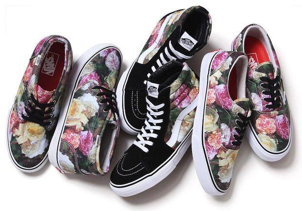 vans fleurs homme