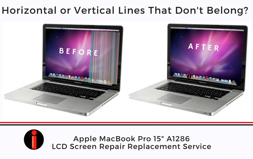 "MacBookPro 15"" A1286 LED SCREEN REPAIR REPLACEMENT SERVICE"
