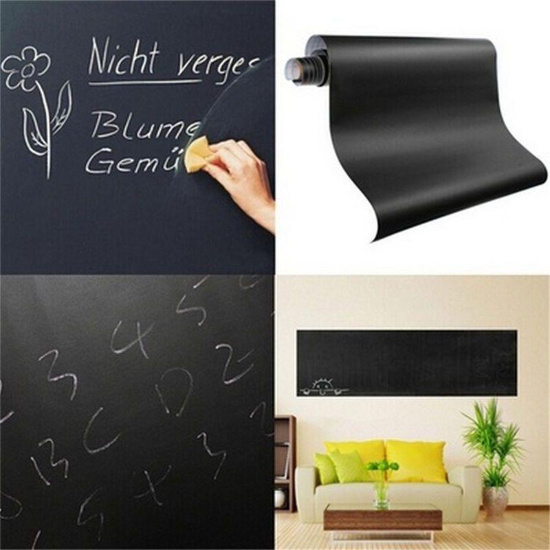 Chalkboard Wall Sticker Blackboard Decal Removable Vinyl Chalk Board Large Paper