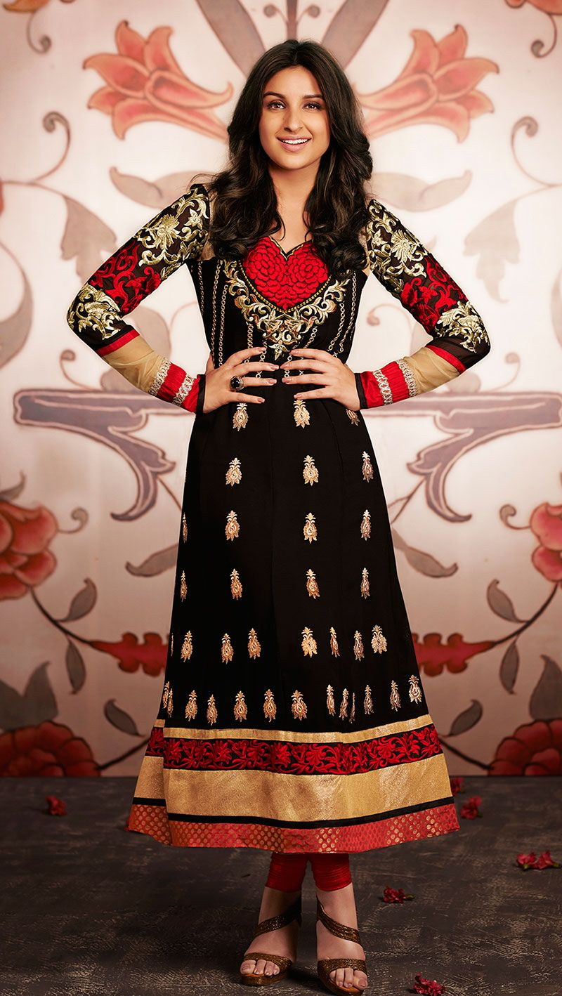 Price :- INR 1550  Product :- http://www.unnatiexports.com/design/closeup/women-party-wear-suits-a-584-b-5.html