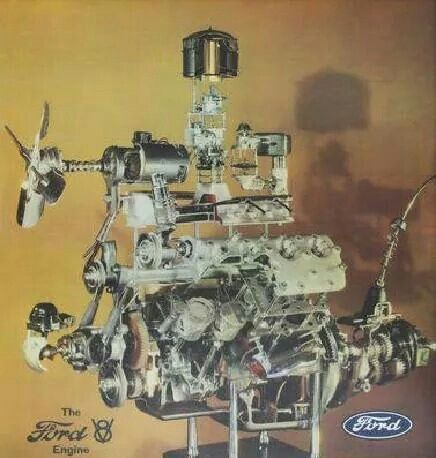 flathead ford exploded view flathead pinterest ford rh pinterest com