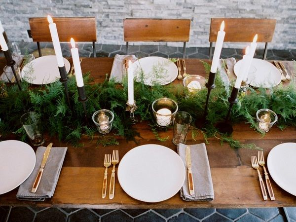 Gold And White Christmas Table Decorations christmas table setting candle holder white cypress gold cutlery