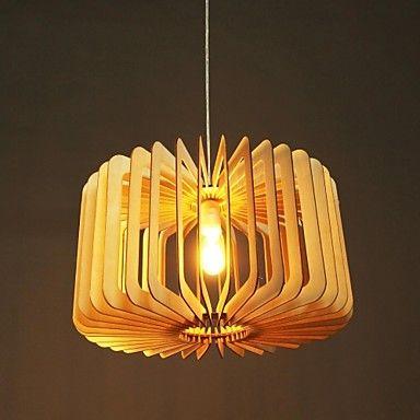 pingente luz uma luz madeira rústica pintura – BRL R$ 642,56