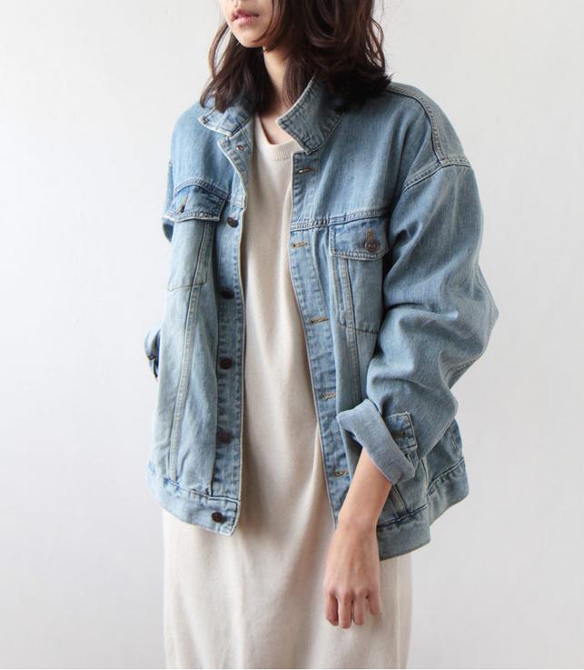 304790eec132 5 Ways to Wear an Oversized Denim Jacket. Greige Market