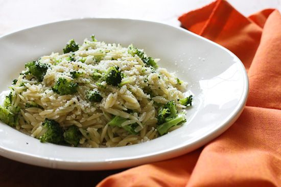 Broccoli and Orzo - eat this as a side dish or even as the main course!