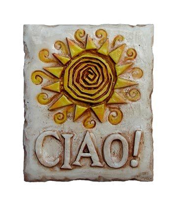 .com: Ciao Sun sign, Italian plaque for Tuscan decor: Home & Kitchen