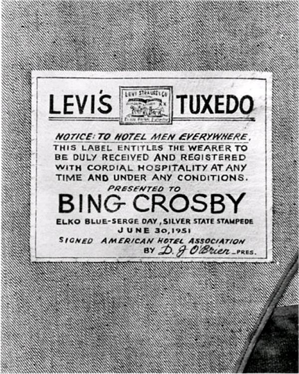 Bing Crosby's Levi's tuxedo » Retronaut