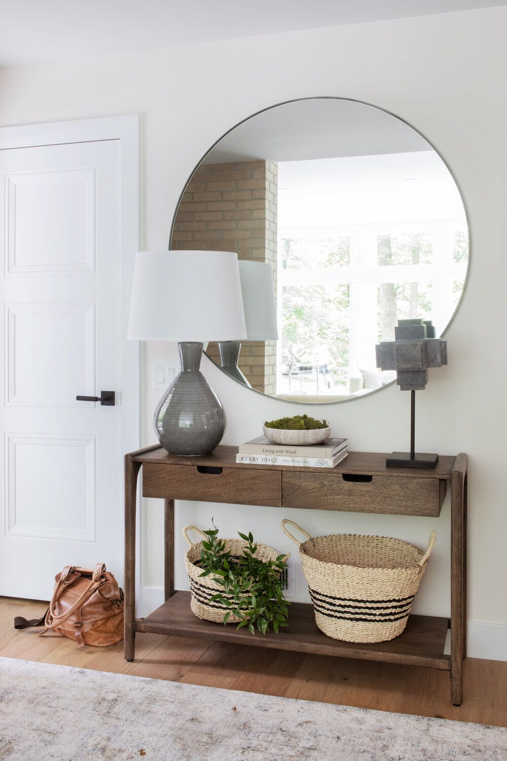 Home Reveal Mixed Mod Part Ii Scout Nimble In 2020 Home Entryway Table Styling Front Entry Decor