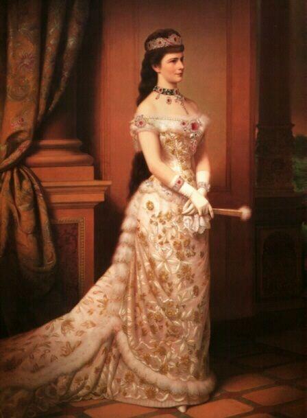 "Portrait of Elisabeth ""Sissi"", Empress of Austria and Queen of Hungary, (24 December 1837–10 September 1898)."