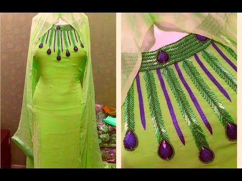 afb46b9640cb46 Latest Beautiful Neck Design for Kurti ( Suit, Kameez) Cutting and  Stitching in Hindi - YouTube