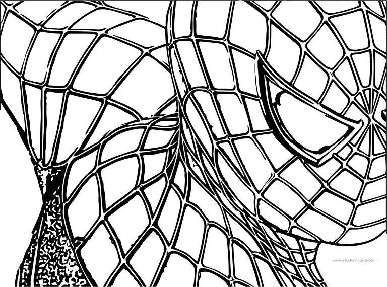 Spider Man Half Face Coloring Page Spiderman Coloring Pages Coloring Pages For Kids