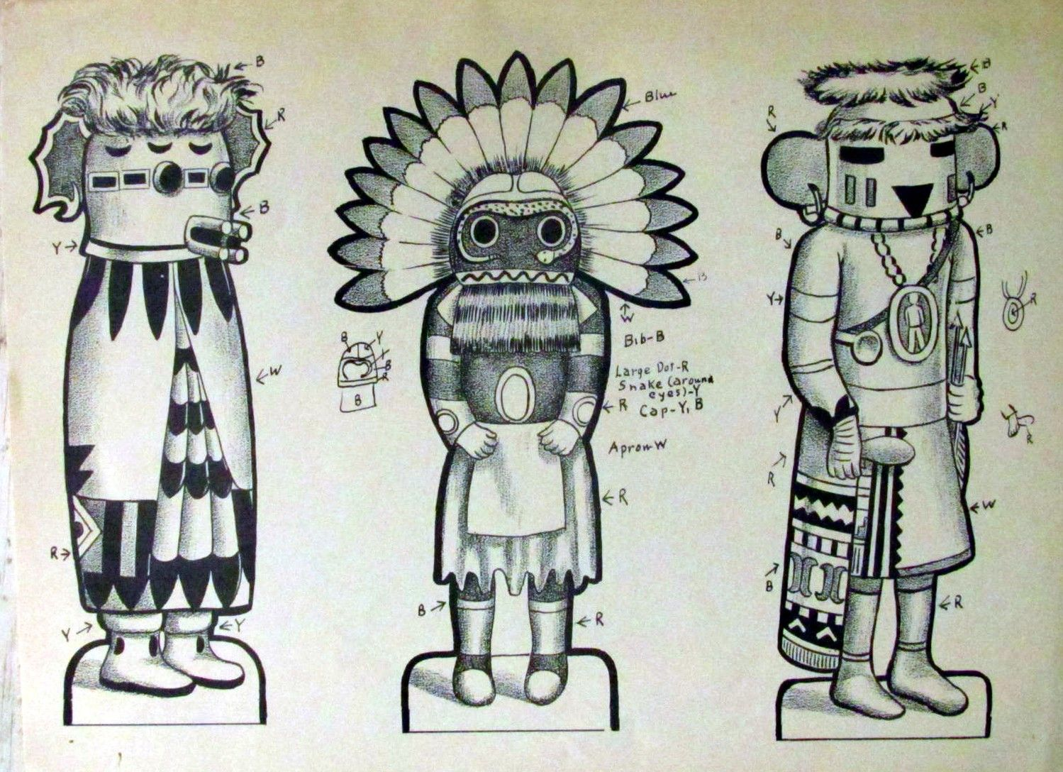 Fabric Paint Patterns Kachinas Google Search Kachina
