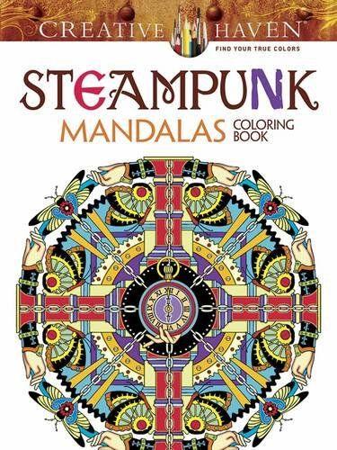 Creative Haven Steampunk Mandalas Coloring Book Adult Co