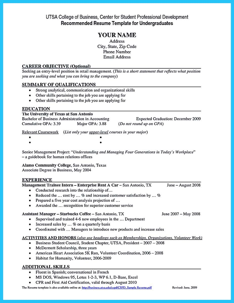nice Best Current College Student Resume with No