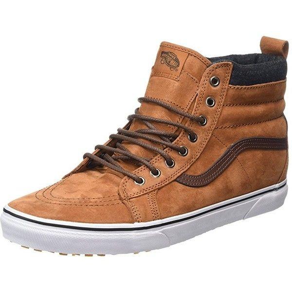 22c4839e01 Vans Unisex Sk8-Hi MTE Glazed Ginger Plaid Skate Shoe 7.5 Men US   9...  ( 129) ❤ liked on Polyvore featuring men s fashion
