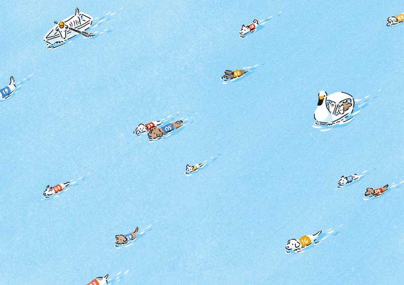 Swimming Dogs by Itsuko Suzuki I love dogs