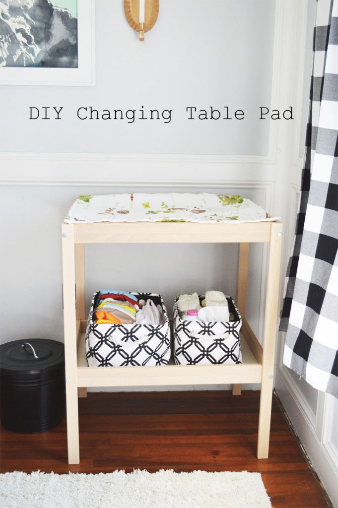 Superieur DIY Changing Table Pad And Cover For Ikea Sniglar Changing Table #ikeahack  @apartmenttherapy