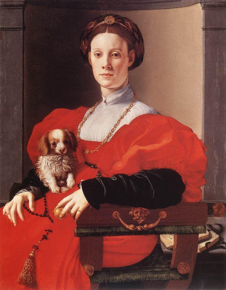 Risultati immagini per Pontormo Portrait of a Lady in Red
