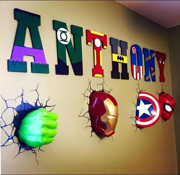 marvel amazing bedrooms size bedroom large super superhero room wall decor hero of themed etsy kids